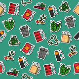 Colored recycling pattern Royalty Free Stock Photography