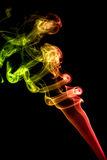 Colored red smoke Stock Photo