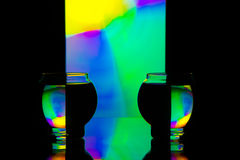 Colored reflections 1 Stock Photo