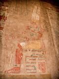 Colored reliefs at the Temple of Hatshepsut at Deir el-Bahari (E Royalty Free Stock Image