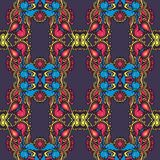 Colored repited pattern in vintage stile stock images