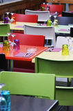 Colored restaurant Stock Photos