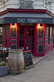 Typical restaurant in Paris. A typical french restaurant in Montmartre, Paris Royalty Free Stock Photo