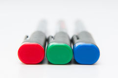 Colored rgb markers Royalty Free Stock Photography