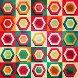 Colored rhombus seamless pattern with grunge effect Stock Images