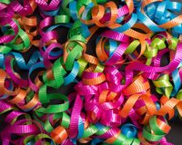 Colored ribbon background. Stock Photography
