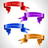 The  colored ribbon stream Royalty Free Stock Photography