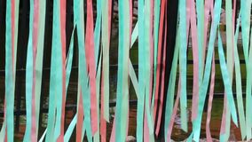 Colored ribbon stock video footage