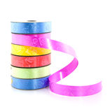 Colored ribbon for wrapping Stock Image