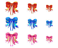 Colored Ribbons. Set of Colored Ribbons for decoration Royalty Free Stock Photos