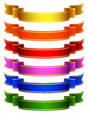 Colored ribbons Stock Photo