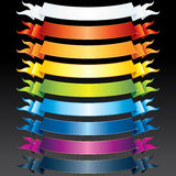 Colored Ribbons. Set of vector Multicolored Ribbons, Banners for your own text or design Royalty Free Stock Photos