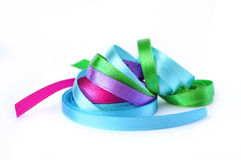 Colored ribbons. Isolated on white background Royalty Free Stock Photos
