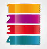 Colored ribbons Royalty Free Stock Images