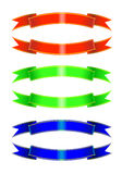 Colored ribbons Royalty Free Stock Image
