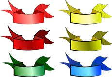Colored ribbons for banners. A series of colorful ribbons for banners Royalty Free Stock Photo