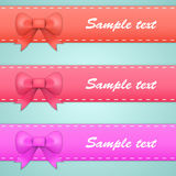 Colored ribbons with bows and tails Stock Image