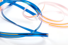 Colored ribbons. Isolated. Over white Stock Photo