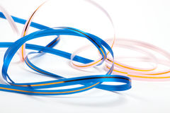 Colored ribbons. Isolated. Over white Royalty Free Stock Image