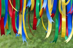 Colored ribbons Royalty Free Stock Photos