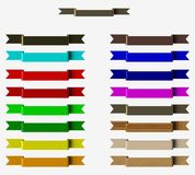 Colored ribbons Stock Image