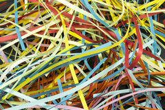 Colored ribbons Stock Photography