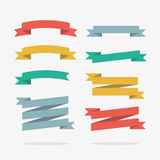 Colored Ribbons in Vector. Colored ribbons in  set Royalty Free Stock Photo