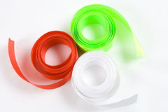 Colored  ribbons on white background Stock Images
