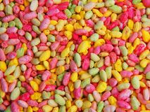 Colored rice beads Stock Photos