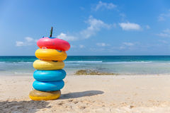 Colored ring on the beach at Koh Larn island Stock Photography
