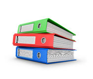 Colored ring binders on a white background. Royalty Free Stock Photo