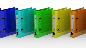 Colored Ring Binders Royalty Free Stock Photos
