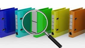 Colored Ring Binders Stock Images