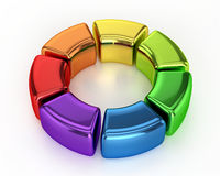 Colored Ring Chart. On White Background Royalty Free Stock Image