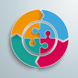 Colored Ring Cycle 4 Options Circle Puzzle Stock Image