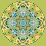 Colored ring mandala Stock Image