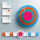 Colored Ring in Rings Infographic Rectangles PiAd Royalty Free Stock Photo