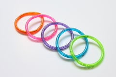Colored rings. On a white background. Photo taken on: August 31st, 2009 stock photos