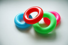 Colored rings Royalty Free Stock Photos