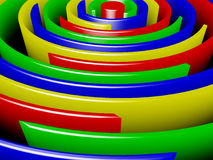 Colored rings. Abstraction-colored rings on a black background Royalty Free Stock Photo