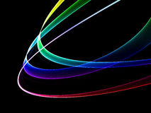Colored rings on black background. Multicolored abstract rings on black Royalty Free Stock Images