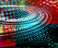 Colored ripples. Colourful background with ripples and spots Royalty Free Stock Photography