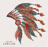Colored roach.Indian feather headdress of eagle Royalty Free Stock Photography