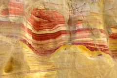 Colored rock in Negev desert. Stock Images