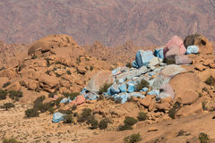 Colored rocks near Tafroute Stock Photo
