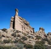 Colored rocks near Tupiza, Bolivia Royalty Free Stock Photography