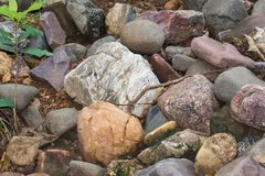 Colored Rocks and Stones royalty free stock image