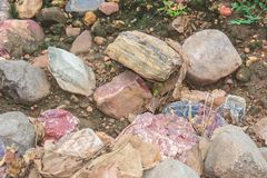 Colored Rocks and Stones stock image