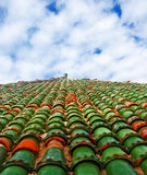 Colored roof Royalty Free Stock Photography