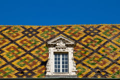 Colored roof in dijon city - France Stock Photo